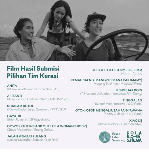 Film Submisi di Pekan Film Semarang 2018