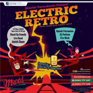 Electric Retro New Year Eve Party Meotel Purwokerto