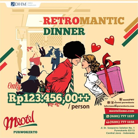 retromantic dinner meotel