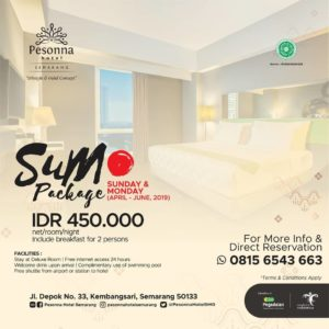 promo sumo packages hotel pesonna